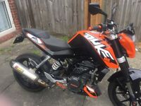 Ktm duke 125 with abs loads of extras in good condition