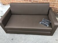 Lucy 2 Seater Fabric Sofa Bed - Mocha