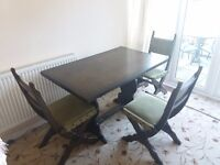 DINING TABLE. SOLID OAK. GOOD CONDITION. NEED GONE ASAP.
