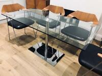 Italian high quality glass 6 seat dining table (not chairs)