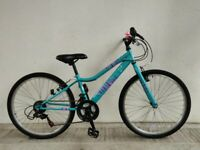 "SERVICED, (4258) 24"" APOLLO KINX GIRLS HYBRID BIKE BICYCLE Age: 8-10, Height: 125-140 cm"