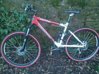 KONA QUEEN KIKAPU FULL SUSPENSION BIKE, FOX REAR, ROCKSHOX, SHIMANO XT 27 SPEED GEARS, COST £1500