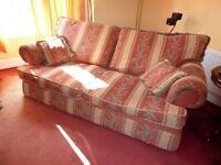 4 seater sofa and 2 arm chairs