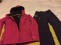 Salomon ski jacket and pants size s