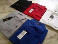 Ralph Lauren Half Sleeve Polos Tshirts for Wholesale & Retail. Singles : £22/per piece.