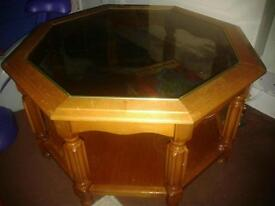 Hexagonal Lower Table and Mirror