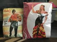 Brand new Rumba male & female fancy dress outfits