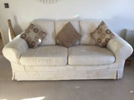 2 and 3 seater Sofas including cushions with Machine Washable Covers £10 ONO
