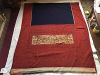 Vintage Indian Chiffon Georgette Floral Printed Saree Fabric Used Sari Size 540cm £6