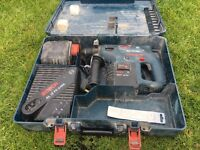 Bosch 24v sds drill, 2 x batteries, charger and case