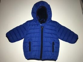 NEXT blue padded jacket size 3-6 months (like new)