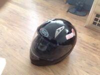 flint crash helmet medium m580 in black