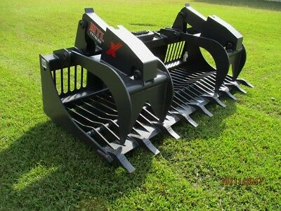 Mtl 84 X Series Rock Grapple Bucket Wteeth Skid Steer Bobcat -ship 179