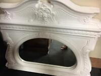 Beautiful. antique over mantle mirror