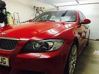 BMW 330d M Sport Diesel Manual Red