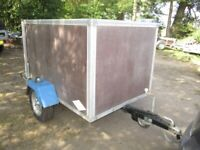 6-0 X 4-2 X 3-8 BOX TRAILER WITH FULL RAMPTAIL.......UNBRAKED.........