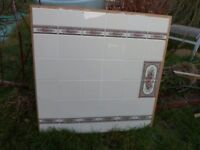 Tiled board for fire surround