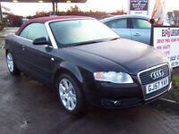 STUNNING 57 LATE 2007 AUDI 2.0TDI 140 CONVERTIBLE FULL LEATHER HIGH SPEC NEW MOT reduced £4350