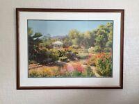Lovely garden scene print