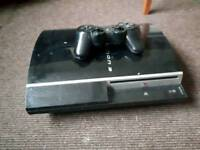 Ps3 console controller and games and leads