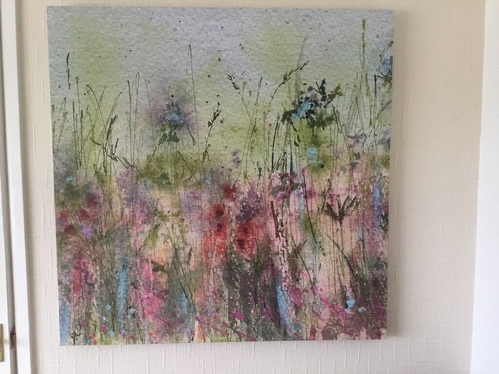 Canvas print john lewis by sue fenlon summer hedgerow excellent condition