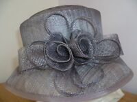 Ladies Accessorize Block Shape Hat in Soft Purple/Lilac/Taupe