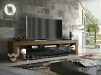 Ultra modern TV unit with LED lights and storage