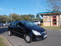 VAUXHALL CORSA 1.2 LIFE 3 DOOR HATCHBACK BLACK NEW SHAPE 2007 BARGAIN ONLY 1250 *LOOK* PX/DELIVERY