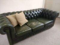 3 seater Thomas Lloyd Leather Chesterfield Sofa
