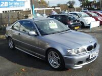 BMW 318 CI M SPORT COUPE 2005 ONE OWNER SILVER