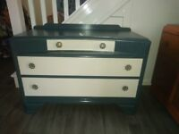 Dressing Table Dresser Chest of Drawers Unit Vintage