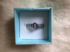 Sterling silver ring size P
