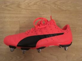 Puma EVOPOWER VIGOR Rugby Boots MENS UK 8.5 (FIERY CORAL)