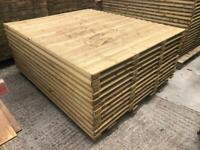 🥇 Pressure Treated Wooden Garden Fence Panels - Heavy Duty