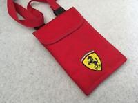 Official Genuine Ferrari Side Pouch Travel Bag - Organiser - Red - Shoulder Strap Detachable