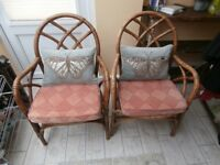 Two Lovely Cane Chairs
