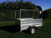 New Trailer cars (6' x 4' x 2,17) double broadside and cover 80cm- £680 inc vat