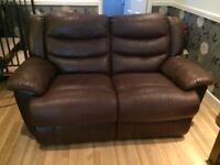 3 seater and 2 seater reclining sofas both in good condition.