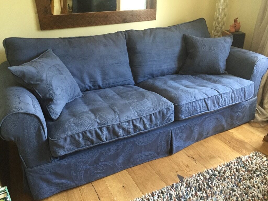 Dfs Country Living St Ives Grand 3 Seater Sofa Blue With