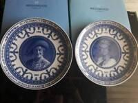 4 Queen Elizabeth II Wedgewood Plates