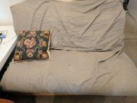Soft Grey Futon Sofa