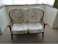 Two seater sofa (2 matching single chairs also for sale)