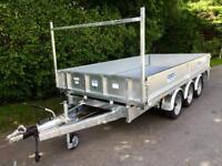 Flatbed trailer dale kane tri axle dropside trailer