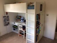 Ikea desk/cupboard/shelf bunk bed. £90.00