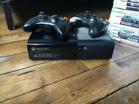 Xbox 360 500GB with 2 controllers, cables and 29 popular games played by my 10-14yr old son