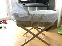 Moses basket- excellent condition
