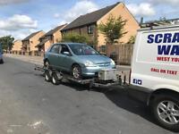 Scrap cars wanted 07794523511 ££ spares car van mot fail none runners