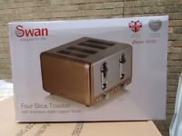 Swann 4 slice copper finish toaster