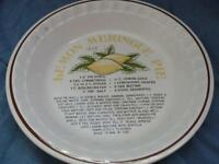 Vintage Lemon Meringue Pie Plate