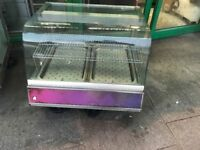 HOT FOOD COUNTER TOP DISPLAY CATERING COMMERCIAL CAFE KEBAB CHICKEN RESTAURANT FAST FOOD KITCHEN